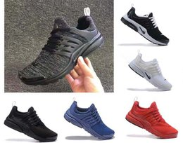 Wholesale Fine Fabrics - 2017 high quality Air Presto Running Shoes Fine Mesh Breathable Air Presto Blackout Cheap Sneaker Red Navy Blue Triple White Black Fall Oliv