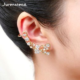 fe456b725 2018 Fashion 1Pc Silvery Golden Cartilage Punk Ear Cuff Clip On Earrings Non -Piercing Cross Wrap Clip Earing For Women jewelry cuff cartilage piercing  for ...
