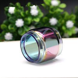 Wholesale e cig vapors - Fat Extended Pyrex Expansion Bulb Rainbow Color Replacement Glass Tube for TFV12 Prince E cig Vape Atomizer Tank Ecig Vapor DHL