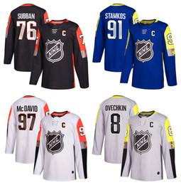 Wholesale Green Flash Games - 2018 All-Star Game 97 Connor McDavid Jersey 91 Steven Stamkos 8 Alex Ovechkin 76 P.K. PK Subban Jersey Stitching Hockey Jerseys