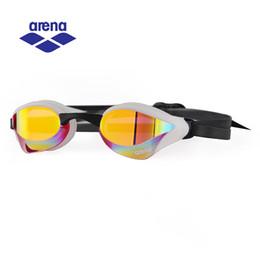 Wholesale Swims Coat - Arena Anti Fog UV Coated Swimming Goggles for Men Women Professional Racing Swimming Glasses Adjustable Eyeglasses AGL-240M