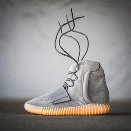 2019 tissu d'impression léopard blanc 750 Chaussures de basketball noir Pirate Black Grey Gum Brown pour hommes Kanye West Bottes de sport Sneaker Glow dans les femmes noires, Chaussures
