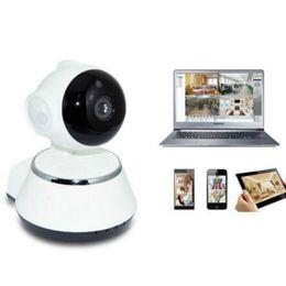 Wholesale Robot Plugs - V380 HD 720P Mini IP Camera Wifi Camera Wireless P2P Security Surveillance Camera Night Vision IR Robot Baby Monitor Support 64G