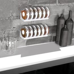 Wholesale Plastic Condiment Bottles - White Transparent Seasoning Box Set Spice Sugar Holder Rack Rotary Container Condiment Jar Bottles Pepper Shakers Kitchen Tools