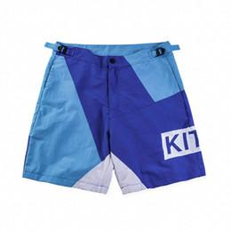 Nuevo diseño de pantalón de carga online-Kith Shorts Men High Street 2018 Nuevo diseño Patchwork Mesh Short Pants Hip Hop Cargo Shorts Safari Style