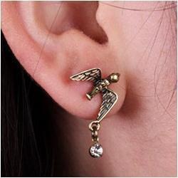 Acessórios de andorinha on-line-Venda por atacado - 24pairs / lot frete grátis acessórios de moda Antique Bird Brinco Love Crystal Swallow Brinco Ear Stud