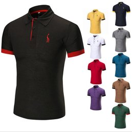 2019 polos de golf Camisa polo de hombre Deportes de verano Camisas sólidas para hombres Entrenamiento de golf Deportes Correr Camisetas de manga corta Camisetas camisetas Camisetas polos de golf baratos