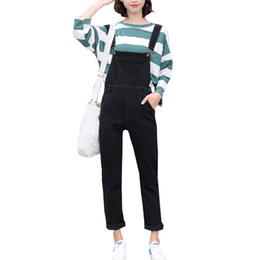 f8f4b090c20 2018 Womens Denim Overalls Solid Jumpsuits Office Casual Pocket Sleeveless  Jumpsuits Pencil Pant Jeans Romper