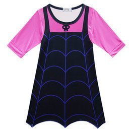 Wholesale Kids Carnival Clothing - long sleeve Vampirina Dresses for Girls Party Dress Children Cosplay Costumes Carnival Kids Clothes Halloween Clothing