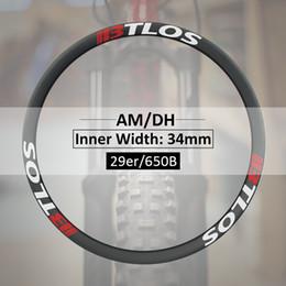 rodas de estrada de carbono china Desconto Jantes de carbono MTB de 34mm para downhill, disponíveis para 27,5 polegadas e 29 polegadas - M-i34