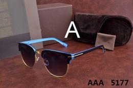 óculos polarizados uv aviador Desconto Top de luxo qualtiy 2018 New Fashion 5177 Tom Óculos De Sol Para O Homem mulher Erika Eyewear Óculos de Sol Da Marca Designer de Óculos de sol com caixa original