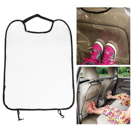 Wholesale Clear Mud - 1PC NEW Clear Car Auto Seat Back Protector Cover Backseat for Children Babies Kick Mat Protects from Mud Dirt New