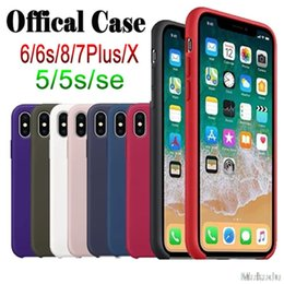 Wholesale light logo back - Original Silicone Phone Case For Apple iphone X 8 7 6 6s Plus Offical case for samsung for huawei logo on Back cover with Retail Box