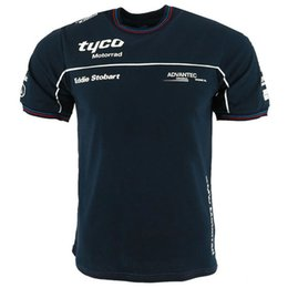Wholesale 2018 новый с коротким рукавом мотоцикл с коротким рукавом футболка гоночный костюм хлопок шею повседневная гоночная рубашка для
