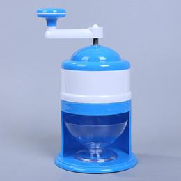 Aplastar la máquina online-Amasadoras de hielo domésticas Maquinillas de afeitar portátiles Máquina de hielo manual trituradora manual de mano azul y blanco