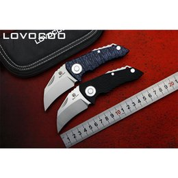 Wholesale Good Quality Survival Knives - LOVOCOO PARROT good quality D2 blade G10 handle Flipper folding knife Outdoor camping hunting pocke knives EDC tools Survival Tactics