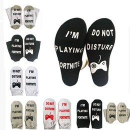 7 styles Fortnite print Socks letter I'M PLAYING FORTNITE , DO NOT DISTURB socks for big children men women Socks Free Shipping