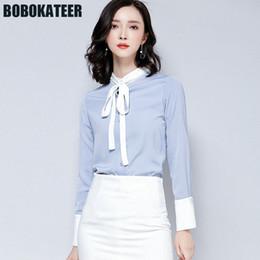 2018 frauen formale blusen BOBOKATEER Frauen Chiffon Bluse Büro Shirt Damen  Langarm Formale Blusen Frauen Tops c96997b260