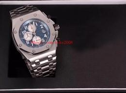 relojes de lujo de color Rebajas 7 colores de lujo reloj de alta calidad N8 Factory 42mm Offshore 26470OR.OO.1000OR.01 acero inoxidable VK de cuarzo cronógrafo Workin relojes para hombre