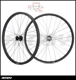 Wholesale 29er front wheel - BOOST wheelset 29er MTB XC 35mm asymmetric 28mm deep 29inch clincher tubeless straight pull wheels 110mm 148mm