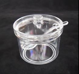 Discount salt boxes - Sugar Bowl Acrylic box spice jar seasoning salt shaker pot cans 400ml