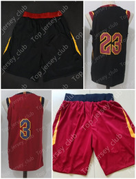 Wholesale Name Brand Shorts - 2018 New Basketball Jerseys Shorts With Name Brand Men Women Youth Signature Throwback Kids 23 0 3 9 5 Black White Red All Stitched