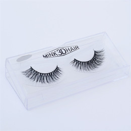 Wholesale Making 3d Logos - Selectable 13-16mm 1 Pair box OEM&Private Logo Acceptable 3D Real Mink Hair Fur Eyelashes Messy Eye lashes Extension Sexy Eyelash