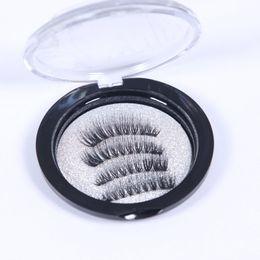 2019 cuadro mixto al por mayor de maquillaje Magnetic Eye Lashes 3D Visón reutilizable imán falso pestañas extensión 3d pestañas extensiones magnéticas pestañas maquillaje venta caliente