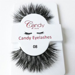 real wholesale make up Canada - mink eyelashes 3D thick long permanent fashion look korea pupular real mink hair lashes hand made fake eyelashes strip winded make up lashes