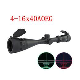 Alcance de caza Alcance del rifle de francotirador 4-16X40AOEG con lente objetiva ajustable del retículo de telémetro verde rojo iluminado desde fabricantes