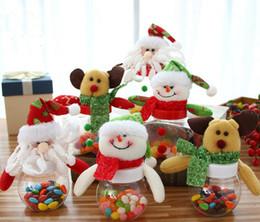 Peluş Noel Baba Kardan Adam Noel Hediye Kutuları Çocuklar Şeker Kavanoz Şişe Noel Dekorasyon Parti Iyilik Yeni Yıl Dekorasyon GA556 supplier candy jars bottles nereden şeker kavanoz şişeleri tedarikçiler