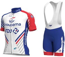 équipe cycliste saxo bank Promotion 2018 Groupama Fdj PRO TEAM maillot de cyclisme à manches courtes vélo usure vélo + short BIB taille XS-4XL