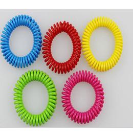 Wholesale repellent band bracelets anti mosquito - Mosquito Repellent Bracelets hand Wrist Band telephone Ring Chain Anti-mosquito bracelet Pest Control Bracelet Bands HH7-889