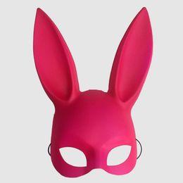2019 novedades de bolos Nueva moda 2018 Bar KTV mascarada máscara las orejas de conejo Máscara de conejito La máscara de conejito de Pascua Envío gratis
