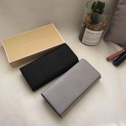 Wholesale Free Cards Design - 2018 Brand design long wallet women's wallets Fashion purse Color Black&Grey carteira feminina size 20*10cm free shipping