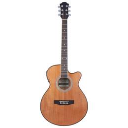 guitare électrique couleur bois Promotion Coffret électrique couleur bois, guitare courte 40 pouces
