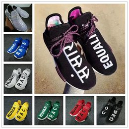 Wholesale Pw Blue - 2018 New Arrival Trail NMD Human Race Boost Pharrell Williams X Casual Running Shoes for Mens Women NMDs PW HU Purple Sports Sneakers 36-47