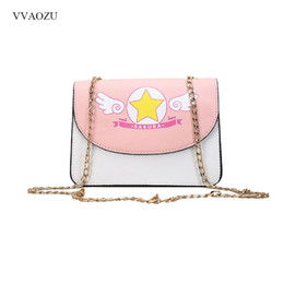 Wholesale Sakura Cards - Anime Card Captor Sakura Kinomoto Lolita Shoulder Bag PU Leather Chain Handbag Women Girl Cute Messenger Crossbody Small Bag