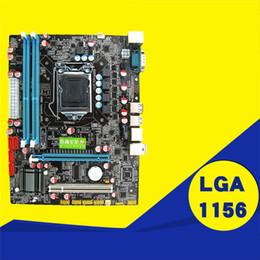 Canada P55 Carte mère CPU Fournitures D'ordinateur LGA 1156 Broche 2 * DDR3 1 * RJ45H55 Carte Mère De Bureau avec Port USB Haute Qualité Offre