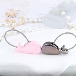 Tierförmige schlüsselanhänger online-Netter Legierungs-Tierdelfin Keychains unterschiedliche Form-silberner schwarzer Delphin-netter Schlüsselring-Art- und Weisepaar Keychain Schmucksache-Geschenk