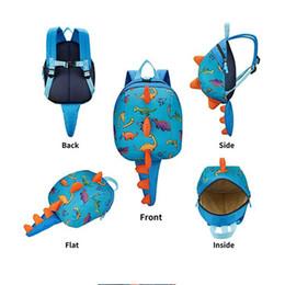 Wholesale toddlers bags - Anti Lost Kids Backpack Cute Cartoon Dinosaur Animal Print Children Backpacks Toddler Boys Girl Kindergaden Schoolbag Baby Shoulder Bag