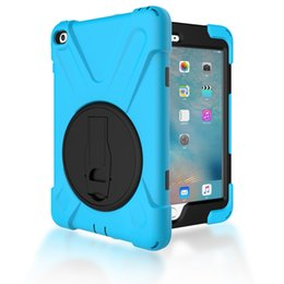 Wholesale ipad protector case for kids - Case for iPad mini 4 Shockproof Kids Protector Cover with Holder for iPad mini 3 Heavy Duty Silicone Hard Back Cover + Pen
