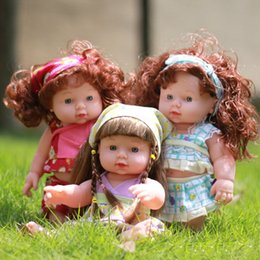 Wholesale Wholesale Reborn Doll - Infant Reborn Baby Doll Soft Vinyl Silicone Lifelike Fashion Newborn Baby Speaking Doll Toy Educational Kids Gifts