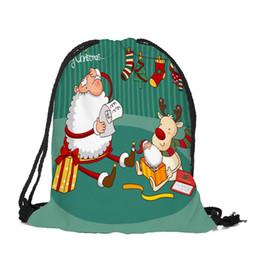 Canada Sleeper # 5001 Joyeux Noël Sac De Bonbons Satchel Sac À Dos Bundle Pocket Sac À Cordon Livraison gratuite nouveau Offre