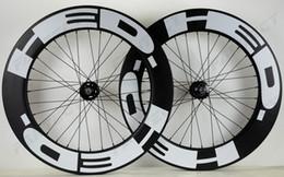 fester zahnradsatz Rabatt HED 700C track bike carbonräder festrad 88mm tiefe 25mm breite fahrradreifen / Tubular carbon laufradsatz U-form felge