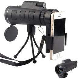 Wholesale Monocular Telescopes - 40x60 HD Zoom Optical High Power Magnification Monocular Scope Telescope With Phone Holder and Tripod For All Phone