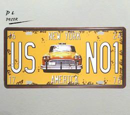 Hoteldekoration gemälde online-DL-shabby Chic US NO1 NEW YORK Eisenmalereien Vintages Haus-Café-Hotel-Retro Bier-Plakat