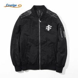 Wholesale Menswear Jacket - Covrlge Jackets Men 2017 Winter Man Jacket Hip Hop Casual Plus Size Brand Mens Clothing Thick Warm Jacket Coat Menswear MWJ071