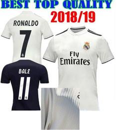Wholesale foot patches - Maillot de foot Camiseta futbol real madrid 2018 2019 Champion de League Liga patch Soccer Jerseys realmadrid football madird Shirt 2018 19