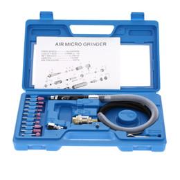 Smerigliatrici ad aria online-Freeshipping professionale Air Grinder Mini matita lucidatura utensile da taglio rotante Set Multi-funzione Air Micro die Grinder Kit 16Pcs 65000 RPM
